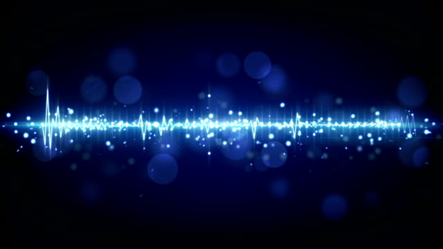 blue audio waveform techno loopable background video