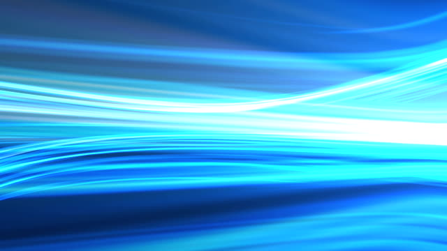 Blue background animation of flowing streaks of light video