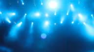 Blue background lights video