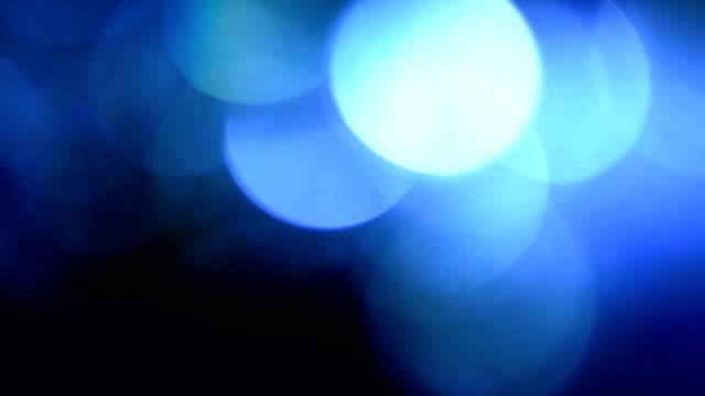 Blue, blurred, bokeh lights background 1080p loop video