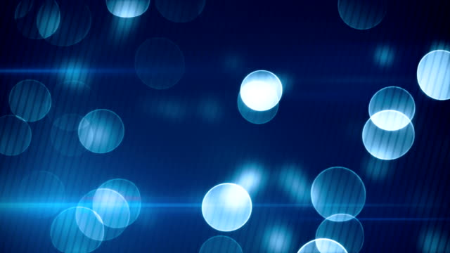 blue bokeh lights loopable background video