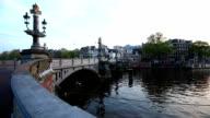Blue Bridge in Amsterdam, Time Lapse video