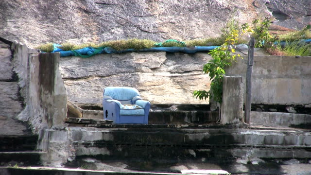 Blue Chair On A Rock video