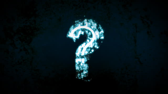 Blue Chaotic Grunge Question Mark video