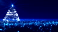 Blue Christmas Tree Background Loopable video