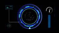 Blue circular spin user interface video