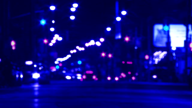 Blue city at night. video