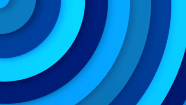 Blue concentric circles 3D animation seamless loop video