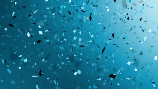 Blue Confetti falling video