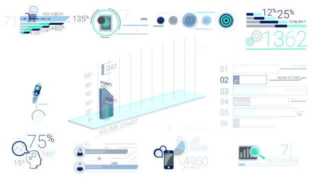 Blue Corporate Infographic Elements video