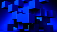 Blue Cube Abstract On Blue Background video