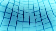 Blue cubes surface waving. Loopable 3D animation video