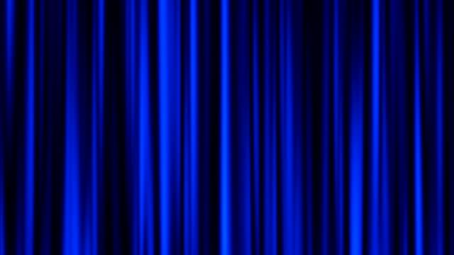 Blue curtain animation video