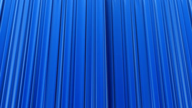 Blue curtain, Opening and closing. video