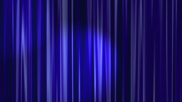 Blue Curtains Open with Spotlights plus Alpha Luma Matte HD video