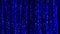 Blue Curtains with Particles Background. video
