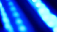 Blue defocused lights abstract background video