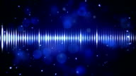 blue digital equalizer loopable background video