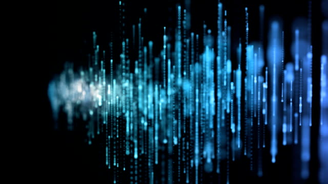 Blue equalizer animation video