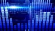 blue equalizer audio waveform loopable background video