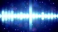 blue equalizer audio waveform loopable background video