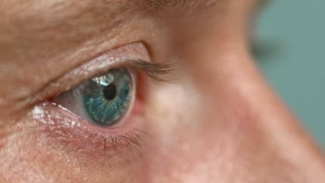 ECU Blue eye moving and closing video