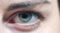 blue eyes: female eyes video