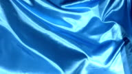 Blue fabric, slow motion video