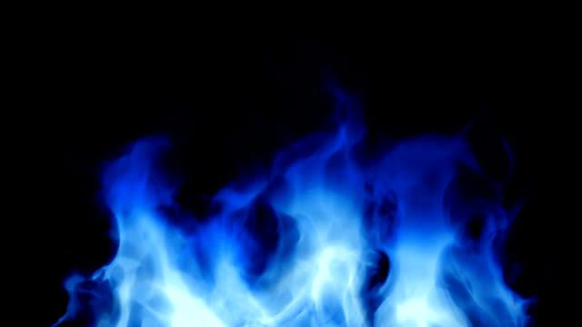 Blue fiery fire video