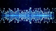 blue flashing squares equalizer loop video