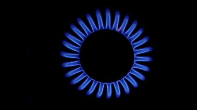 Blue Gas Flame. video