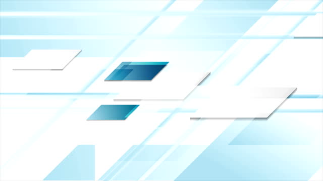 Blue geometric technology abstract video animation video