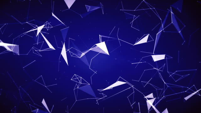 Blue Geometric Triangles (Loopable) video