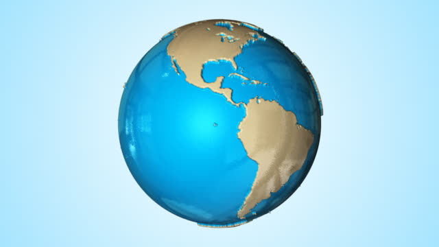 Blue Glassy Globe video