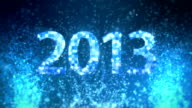 Blue glitter New Year 2013 video