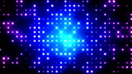 Blue Glittering Light Grid video