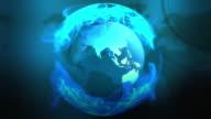 Blue globe loopable video
