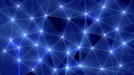 blue glow polygonal background loopable video