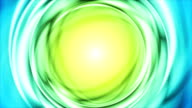 Blue green iridescent flowing circles video animation video