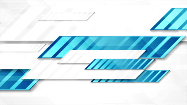 Blue grey tech geometric abstract video animation video