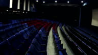 Blue hall cinema with red vip seats video
