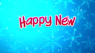 Blue Happy New Year 2015 Greeting Art Paper Card video