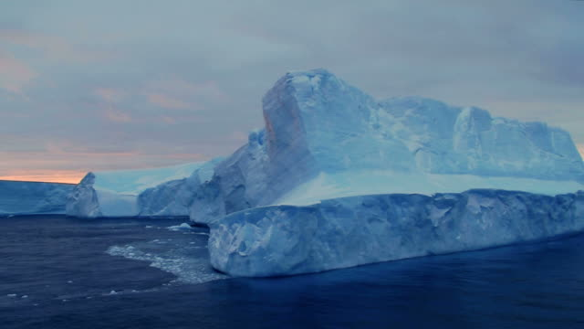 Blue Iceberg under brooding skies video