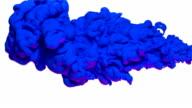 Blue ink in water, Slow Motion video