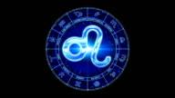 blue leo zodiacal symbol video