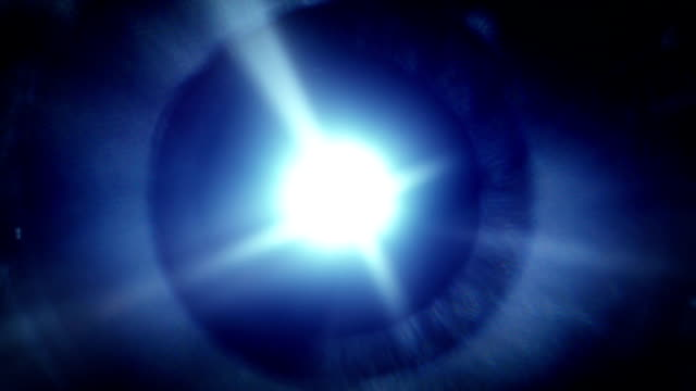 Blue light and lens flare seamless loop video