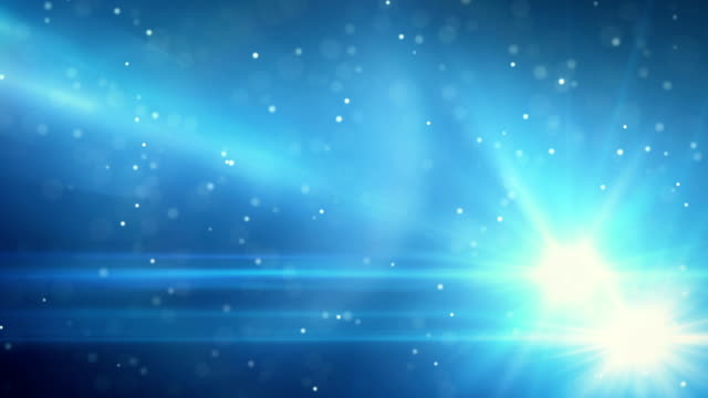 blue light flares and particles loop background video