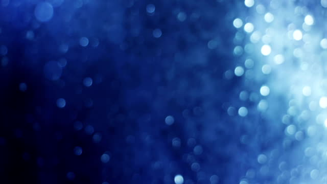 blue light through glass with beautiful flares loop video