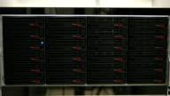 Blue lights blinking on servers video