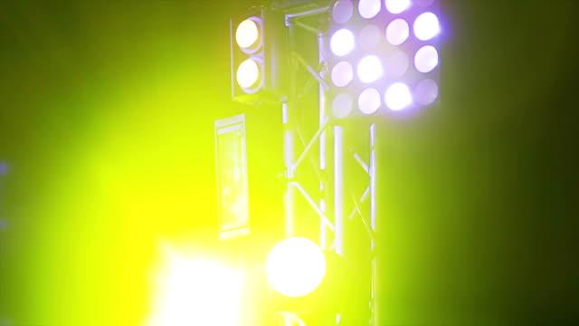 Blue lights in rock concert video